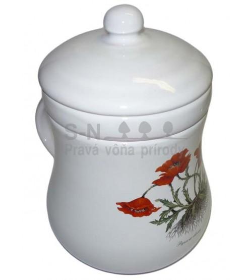 Bylinkáč - čaj - pohár so sitkom (biely)