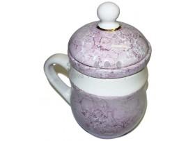 Bylinkáč - čaj - pohár so sitkom (fialový)